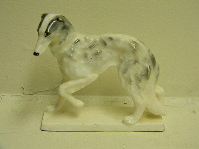 RARE Vintage / Antique MEISSEN Porcelaine BORZOI Dog Statue * Excellent