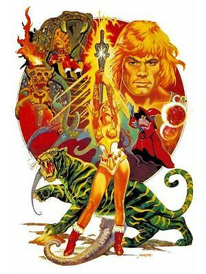 He-Man *LARGE POSTER* Masters of the Universe RARE & AMAZING UK Image He Man