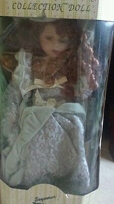 "Vintage 17"" Tall Seymour Mann Connoisseur Collection Doll New In Box"