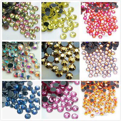 Hot fix Flat back Crystal Rhinestones Art Mix Iron On 1440pcs DMC Top Quality