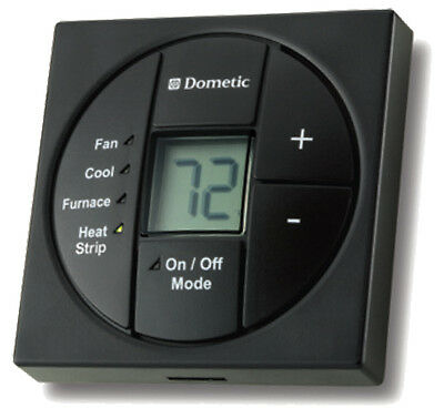Dometic 3313189.056 Black Single Zone LCD Thermostat & Control Kit Thermostat