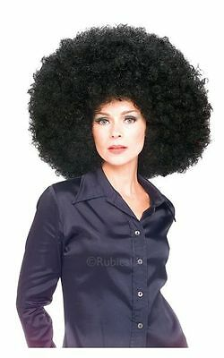 Adult 70s Black Super Mega Afro Wig Ladies Fancy Dress Costume Party Accessory