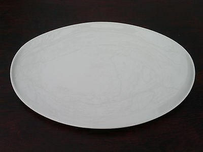 """Large Ceramic Oval Serving Platter Tray; Iroquois Accent Orange; 15"""""""