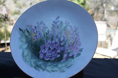 Artist Signed Plate, Wisteria Signed Maxine Barber '03 No other Markings