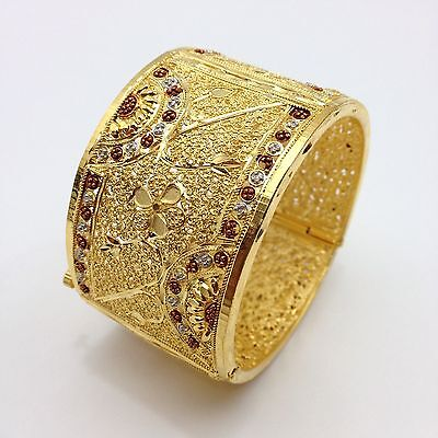 Indian 22ct Gold plated Bangle/Gajhra Size: (2.4)
