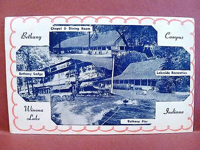 Postcard IN Winona Lake Bethany Camp Campus  Multiview