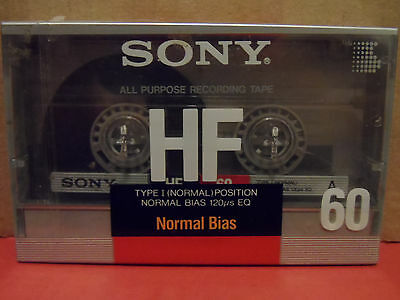 Sony HF 60 Minute Cassette Blank Tape BRAND NEW Normal Bias