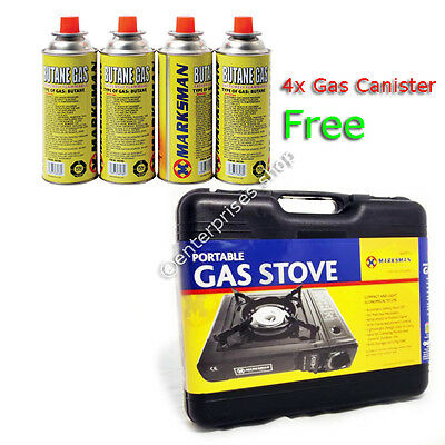 OUTDOOR PORTABLE GAS COOKER STOVE BBQ CAMPING PATIO TRAVEL Butane Gas Canisters