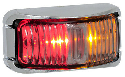 Led 12V 24V Marker Light Submersible Clearance Lamp Truck Ute Trailer  Amber Red