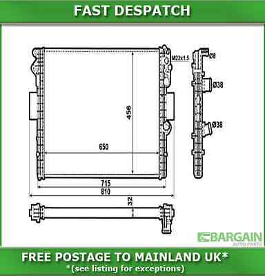 Nrf 53612 3536 Radiator For Iveco Daily 45C11 2.8 Diesel 1999-2006
