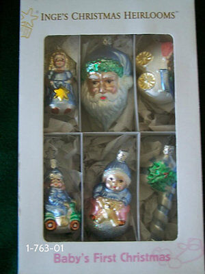 Baby First Christmas Ornament Set- Inge Glas Old World