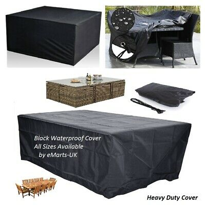 Heavy Duty Rattan Wicker Waterproof Cube Furniture Cover Outdoor Garden All Size