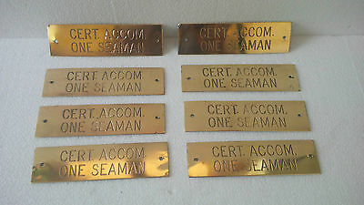 Vintage Maritime Marine Ship Brass Plaque & Signs  Ship 100% Original