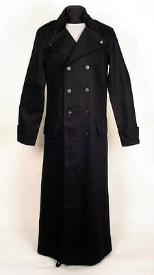"Redballs On Fire London / Los Angeles Black ""Ripper Coat"" Dark Goth Trench Coat"