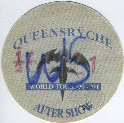 Queensryche 1990-91 World Tour Backstage Pass Aso