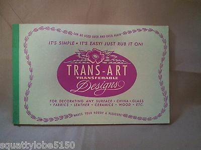 Vintage TRANS-ART Transferable Designs Book for Decorating Any Surface CRAFTMART
