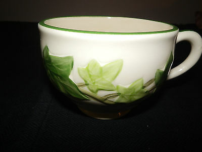 Vintage FRANCISCAN WARE Flat Cup - GREEN IVY - USA - GUC