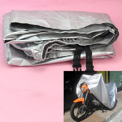New Motorcycle Motorbike Waterproof Snow Rain Cover Anti Dust Protection Silver