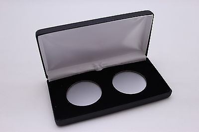 Black Leatherette Display Box for Airtite Coin Capsules 2 Model X Challenge Coin