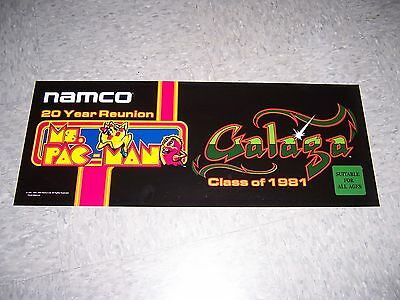 NAMCO Ms Pacman Galaga 20 year reunion marquee OEM NOS!