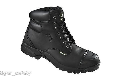 68ff1418dc8 ROCK FALL EBONITE Safety Work Boots Black RF10 Sizes 6-12 S3 SRC Non ...