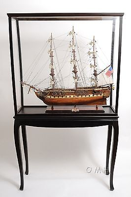 P010  Display Case With Legs for Scale Model Ships  -  Old Modern Handicrafts
