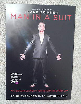 FRANK SKINNER UK 2014 Tour/Concert Flyer Man In A Suit Stand Up Comedy TV Show