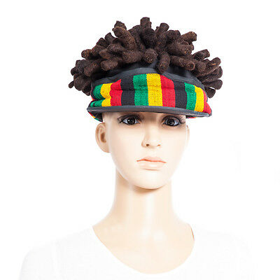 Rasta Cap Hat Adjustable Fit Dreads Great Quality Reggae Costume Party Supplies