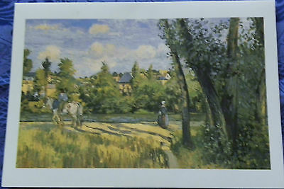 2 New VINTAGE Uncirculated Folding C PISSARRO & P A RENOIR CARDS (FRANCE)