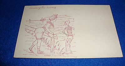 "Vintage Black Americana Postcard ""Admiring the Scenery"" Unused"