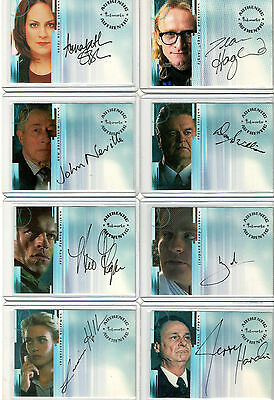 X-Files Seasons Connections & Believe Autograph & Pieceworks Card Selection NM
