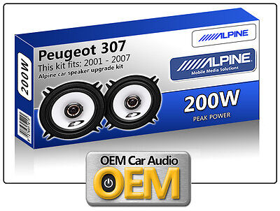 "Peugeot 307 Rear Door speakers Alpine 13cm 5.25"" car speaker kit 200W Max power"