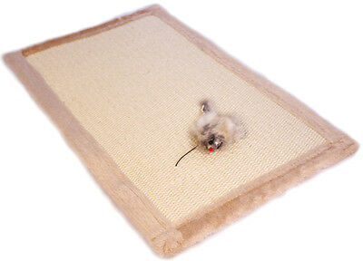 Cat Scratch Mat Carpet Blanket - Real Sisal Carpeting - Protects Furniture, Sofa