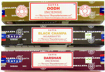 3 Packs Original Satya Sai Baba Nag Champa Incense Sticks