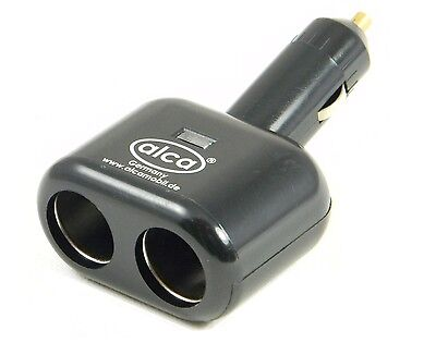 Quality 2 way dual car cigarette lighter splitter socket 12V DC POWER adapter