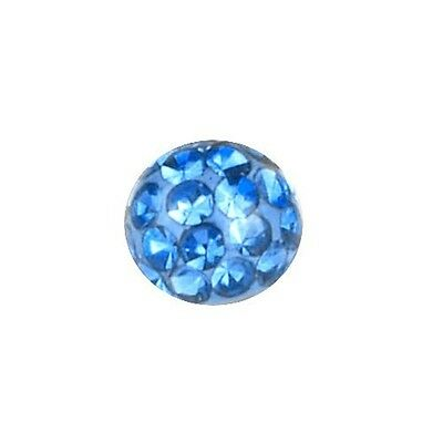 Piercing Replacement Ball, Multi Crystal Stones Light Blue | 3 - 8 mm