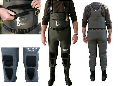 Seland Waders Neoprene Con Stivale In Gomma Rinforzato Mm.5