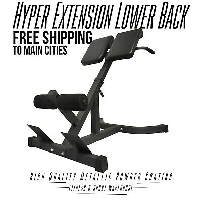 NEW 45 Degree Hyper Extension Lower Back Fitness Gym Exercise Equipment