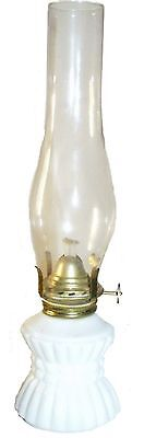 Vintage White Milk Glass 10 inch tall Oil Lamp never used