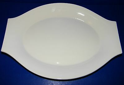 Jackson China Restaurant Ware Paul McCobb Just White Oval Platter Plate 11 1/2""
