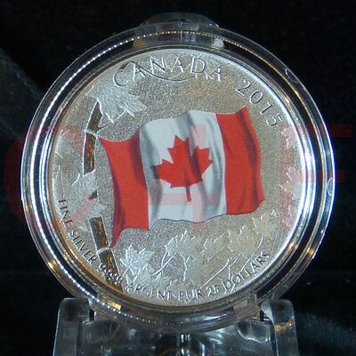 2015 $25 for $25 #1 50th Anniversary of the Canadian Flag .9999 Pure Silver Coin