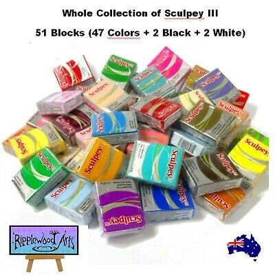 Sculpey III -  Oven Bake Polymer Clay - Every Color - 48 Blocks - GREAT VALUE