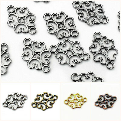 25 Metal Alloy Small Filigree Style Connector Links 19mm x 12mm