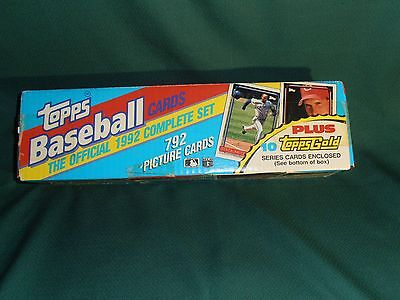 1992 Topps Complete Set MLB Baseball 792 Cards with 10 Topps Gold Series Cards