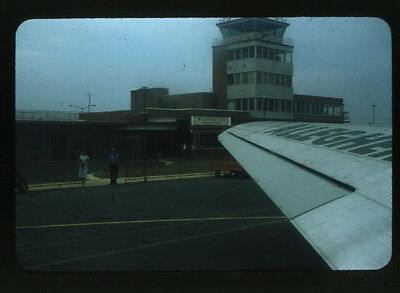 View of Airport from Allegheny Airlines Plane - Vintage Red Border 35mm Slide