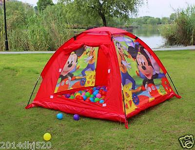 Mickey Mouse Kids Play Tent Baby Toy Outdoor Indoor Play House Pit Ball Playhut