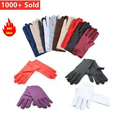 New Lady Womens Satin Short Gloves Wedding Bridal Party Prom Fancy Dress Gloves