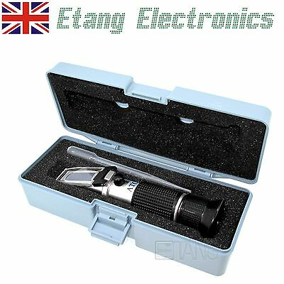 Portable Refractometer Tool Antifreeze Glycol Tester Engine Fluid Screenwash