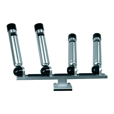 Big Jon Quad Multi-Axis Pedestal Mounted Rod Holder - Silver
