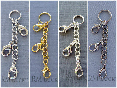 """Floating charm Locket EXTENDER 2.5"""" rolo chain 6mm"""